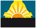 Pyramide, sonnige Fächerform und die wiki-Syntax Klammern für interne links wurden von dem Benutzer Johannes Henseler im Logo vereint.