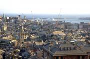 Blick auf das Hafenviertel von Genua