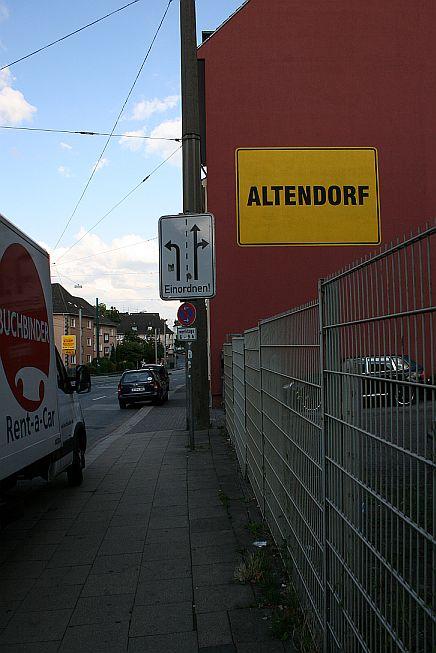 """Der """"Ortseingang"""" von Essen-Altendorf"""