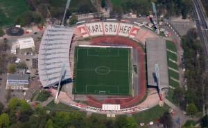 Wildparkstadion Karlsruhe von oben